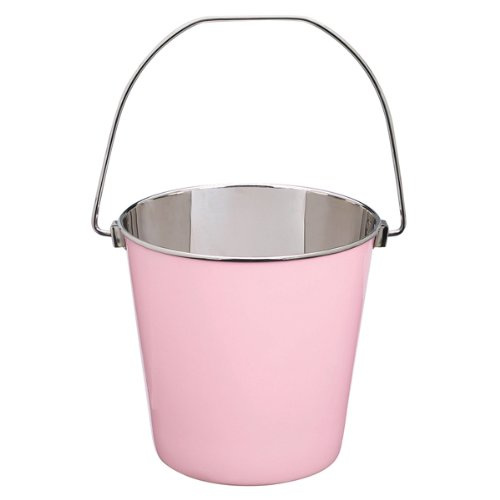 Proselect Stainless Steel Heavy Duty Pail, 4-Quart, Pink front-165285