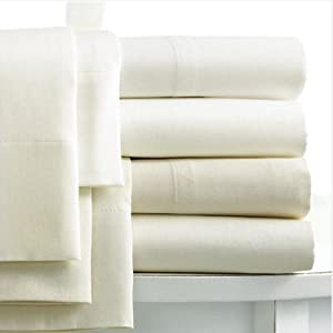 Linens Limited 100% Egyptian Cotton 400 Thread Count Oxford Pillow Cases, Cream, Pair
