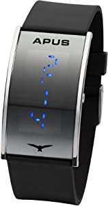 APUS Gamma Silver-Blue LED Watch Very Light
