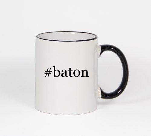 #Baton - Funny Hashtag 11Oz Black Handle Coffee Mug Cup
