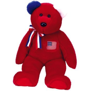 TY Beanie Buddy - AMERICA the Bear ( Red Version ) - 1