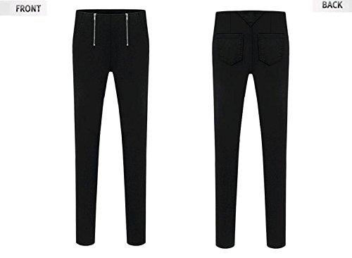 Amazon.co.jp: Tiara ジッパー がポイント スキニーパンツ デニム ブラック (M): Amazonファッション通販