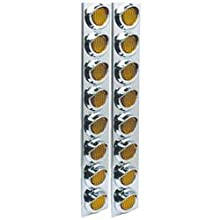 Roadpro Posi-View Led Ss Air Cleaner Sealed Light Assembly - 8 Amber Lights 2-Pack