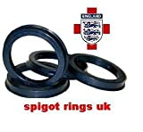 57.1 - 66.6 SPIGOT RINGS TO FIT VW TRANSPORTER T4 AUDI A2 A3 A4 NEW A5 S5 A6 A8 RS4 RS8 OEM AFTERMARKET FULL SET OF 4