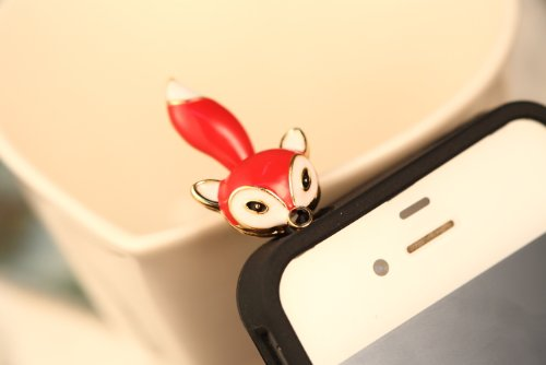 Big Mango Fashion Lovely Charming Fox 3.5Mm Headphone Jack Accessories Anti Dust Plug Ear Cap For Apple Iphone 5C,5S,5,4,4S,Ipad 2,Ipad 3,Ipad 4,Ipad Mini,Ipod Touch ,Samsung Galaxy S2 S3 S4 Galaxy Note 3 Note 2 Htc,Blackberry ( Red )