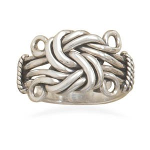 Sterling Silver Love Knot Ring / Size 9