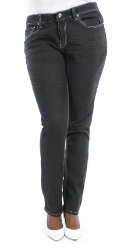 Jeans Colony Women'S Plus Size Denim Skinny Jeans 16 Black front-374075