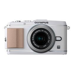 Olympus Pen E-P3 Compact System Camera Double Zoom Kit - White (Includes M.ZUIKO Digital 14 -42mm II R and M.ZUIKO Digital 40 -150mm Lenses)