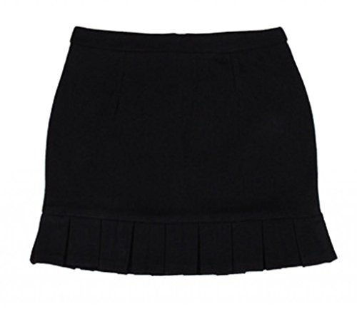 Am Clothes Womens Fall Winter Wool Hip Package A-Line Wool Short Mini Skirt front-1022667