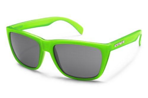 Suncloud Standby Polarized Sunglasses, Electric Green Frame, Gray Lens