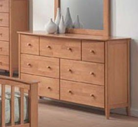 Storage Dresser Contemporary Style Maple Finish