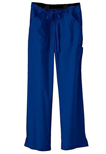 Ultra Soft Brand Scrubs - Premium Womens Junior Fit Cargo Pocket Scrub Pant, Royal Blue 36173-Xx-Large