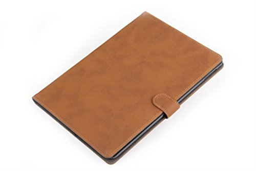 Apple Ipad Air 2 Case Borch Fashion Luxury Multi-Function Protective Retro Leather Light-Weight Folding Flip Smart Case Cover For For Ipad Air 2 (Brown)