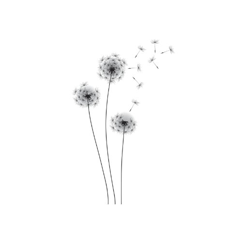 Umbra Pluff Wall Decor : Roommates whimsical dandelion peel and stick giant wall