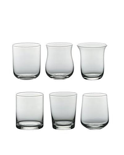 Bitossi Thuis glas 6 stuks . Set Tumbler Helder transparant