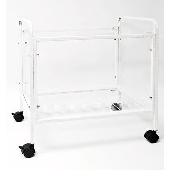 Cage Connection Table Top Bird Cage Stand, 23.5 x 16.5 x 25, Alabaster White