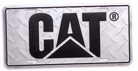 Caterpillar CAT Diamond Plate License Plate