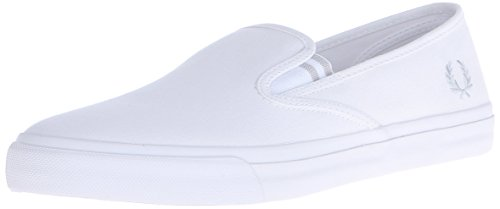 Fred Perry Turner Mens Canvas Shoes White White - 43 EU