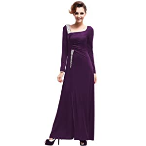 HE09736PP18, Purple, 16US, Ever Pretty Long Holiday Dresses Women Cheap 09736