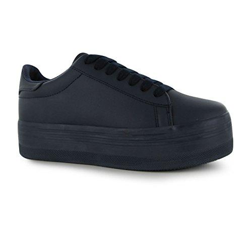 Jeffrey Campbell Play Stan piattaforma scarpe da donna blu scarpe da ginnastica Sneakers, Navy, (UK6)