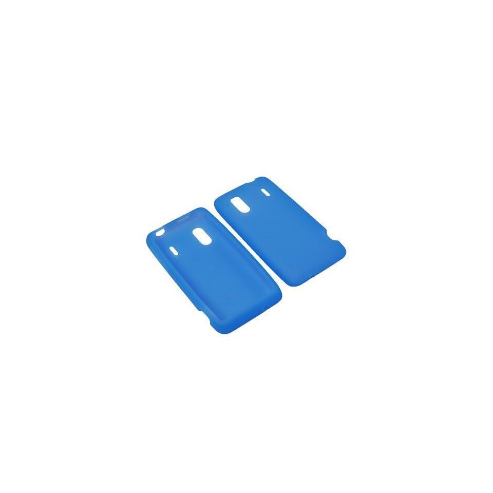 BW Soft Sleeve Gel Cover Skin Case for Sprint, U.S. Cellular HTC Hero S, EVO Design 4G  Blue