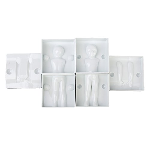 6pcs Fondant Cake Icing Mold Sugarcraft Decoration 3D Children Body Parts (Body Part Candy Mold compare prices)