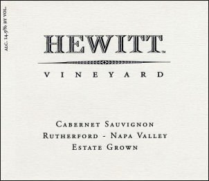 2007 Hewitt Vineyard Rutherford Cabernet 750Ml