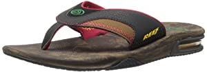 Reef Men's Fanning Sandal, Brown/Wood, 11 M US