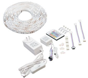 American Lighting 12Tl-Rgb-30-8.2 15-Watt 12V Dc Led Rgb Tape Light Kit With Remote, 8.2-Feet, Soft White, 1-Pack
