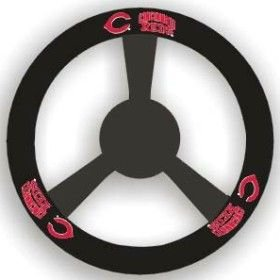Cincinnati Reds Leather Steering Wheel Cover