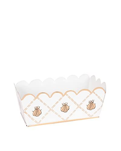 Jayes French Bee Storage Caddy, Cream/Gold