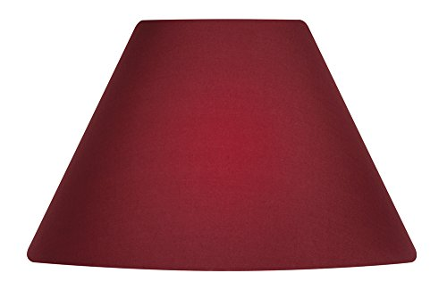 oaks-lighting-abat-jour-en-coton-de-forme-conique-25-cm-rosso-vivo