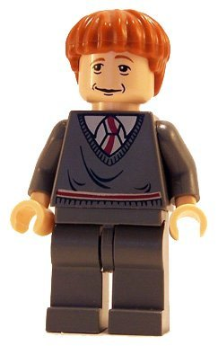 Picture of LEGO Ron Weasley (Gryffindor Stripe Torso, LF) - LEGO Harry Potter Figure (B001BR43AE) (Harry Potter Action Figures)