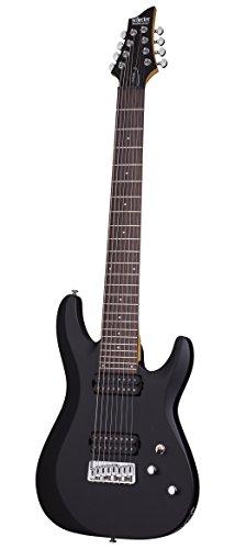 Schecter-C-8-DELUXE-Satin-Black-8-String-Solid-Body-Electric-Guitar-Satin-Black