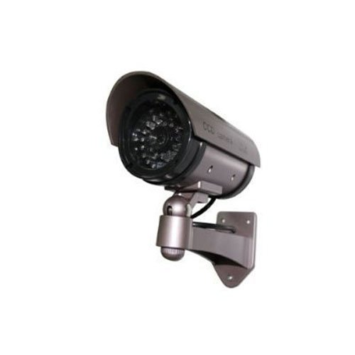 Lowest Prices! Outdoor Fake/Dummy Security Camera with Blinking Light (Color: Dark Grey with hues of...