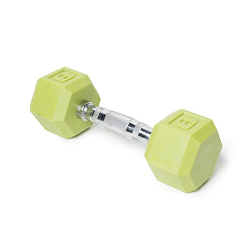 CAP Barbell Color Coated Single PVC Hex Dumbbell, Green, 8 lb.