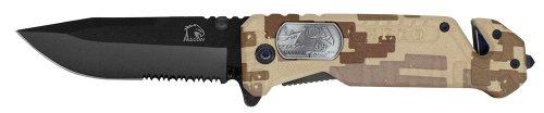 "4"" Folding Pocket Marines Hero Knife - Desert Camo"