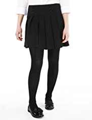 Plus Fit Drop Waist Pleated Fashion Skirt