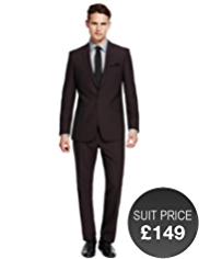 Autograph Notch Lapel 1 Button Jacket with Wool
