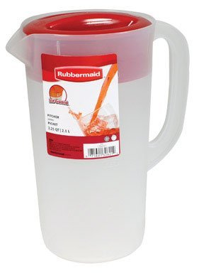 RUBBERMAID Covered Pitcher 2.25 qt - White with Red Cover (Rubbermaid Pitcher 2 Quart compare prices)