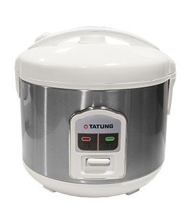 Tatung 8 Cup Direct Heat Rice Cooker TRC-8BD1, with Stainless Steel Inner Pot by Tatung