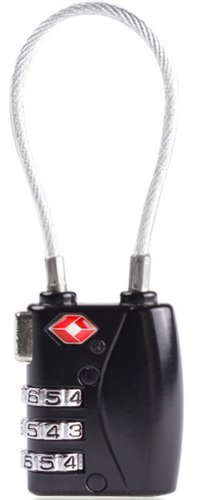 Mygreen Mini TSA Approved 3 Digits Metal Combination Luggage Lock Coded Padlock (black)