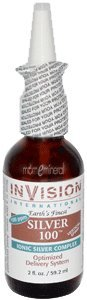 Silver 100, Ionic Silver Complex Vertical Spray, 2 fl oz (59.2 ml) by Invision International