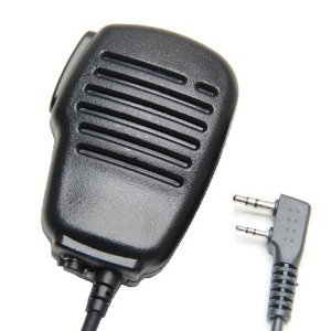 Embest 2-Pin Heavy Duty And Rainproof Shoulder Remote Speaker Mic Microphone Ptt Compatible For Kenwood Tk-272 Wouxun Kg-679 Puxing Px-888 Baofeng Uv-5R Two Way Radio