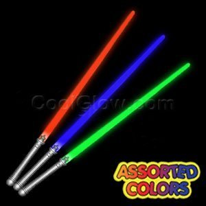 "Fun Central X552 LED Light Saber 28"" - Assorted Colors 6-pack Glow in the Dark"