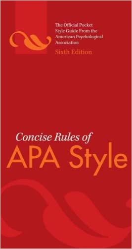 Concise Rules of APA Style written by American Psychological Association
