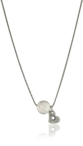 Maiden Art Jewelry Silver Necklace with Pearl and Heart