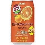 アサヒ 果実の瞬間 贅沢みかんテイスト (ポンジュースとのコラボ商品) 350ML × 24本