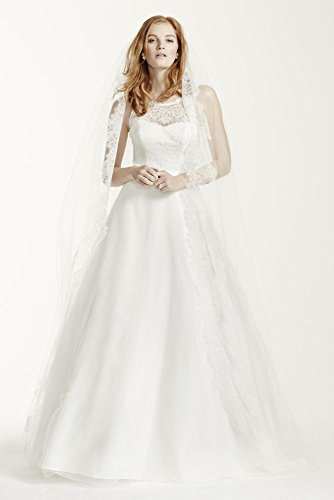 SAMPLE: Illusion Lace Tank A-Line Wedding Dress with Tulle Skirt Style...