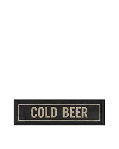 The Artwork Factory Cold Beer Sign V Framed Art